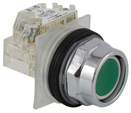 Non Illuminated Push Button 30mm Green Model 9001KR2GH6 by USA Schneider Electrical Pushbutton Complete Units
