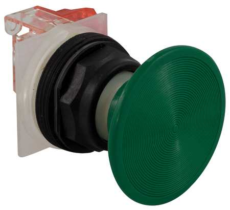30mm, Green Non-Illuminated Push Buttons