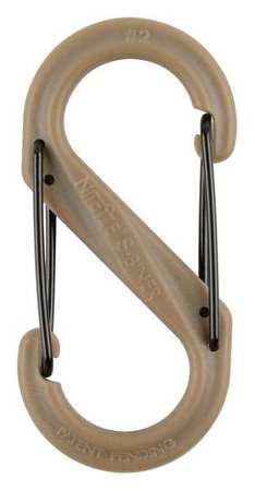 Nite Ize Carabiner Clip 2 In. Plastic Brown