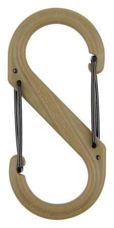 Nite Ize Carabiner Clip 3-1/2 In. Plastic Brown