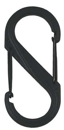 Nite Ize Carabiner Clip 10-3/8 In. Plastic Black