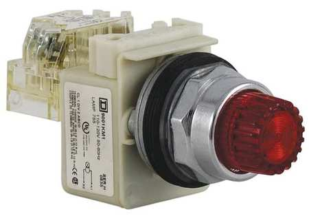 Illuminated Push Button 30mm 1NO/1NC Red Model 9001K2L1RH13 by USA Schneider Electrical Pushbutton Complete Units