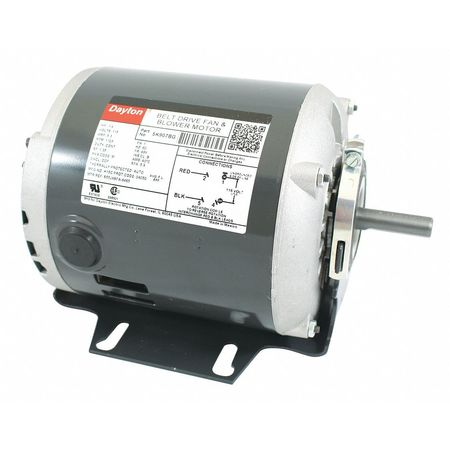 Motor 1/4 HP Split Ph 1725 RPM 115 V Model 5K907 by USA Dayton HVAC Belt Drive Motors