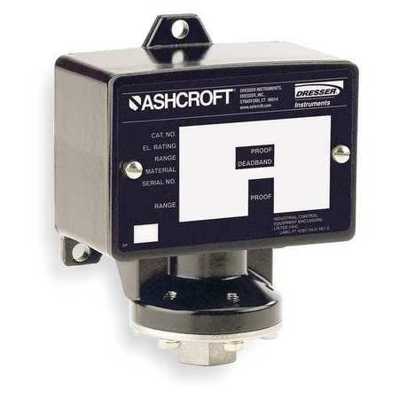 Pressure Swtch Stndrd DPST 40 to 400 psi by USA Ashcroft Electrical Pressure Switches