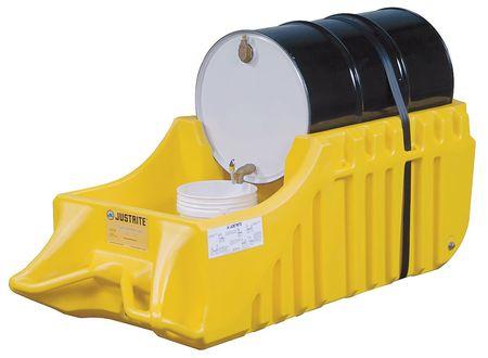 Justrite 28664 Drum Caddy Outdoor Yellow -  Justrite Mfg