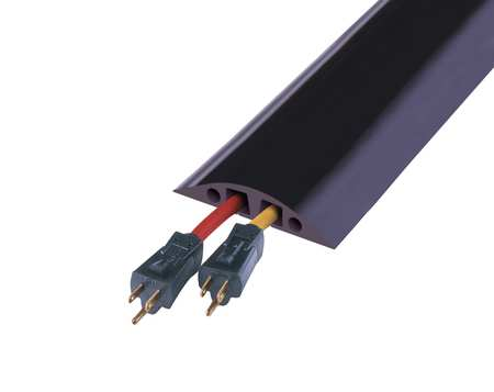 Cable Protector 2 Channels Black 10 ft.L Model RFD6 10 by USA Checkers Electric Cable Protectors