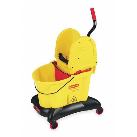 RUBBERMAID - Mop Bucket/Wringer, 8.75 gal, Dwn Press