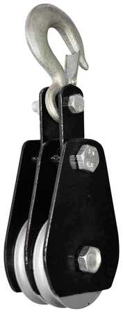 Value Brand Double Pulley Block 3000 lb Cap 4 In OD