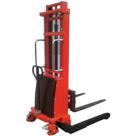 Dayton Adj Base Hyd Stacker 2200 lb 137 In Lift