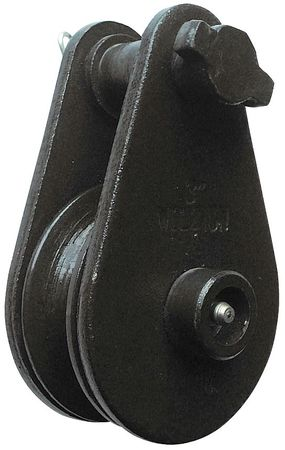 Value Brand Pulley Block Wire Rope 4000 lb Load Cap. Type 5ULK8