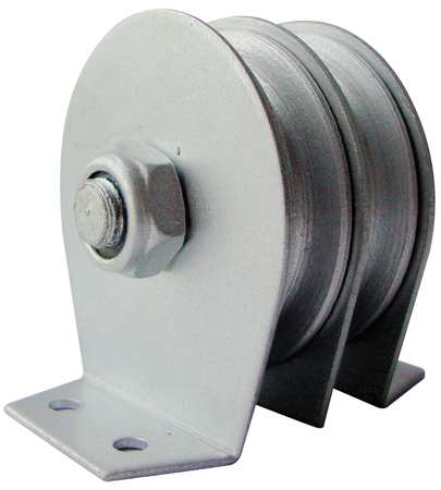 Value Brand Dbl Pulley Block Wire Rope 600 lb. Cap.