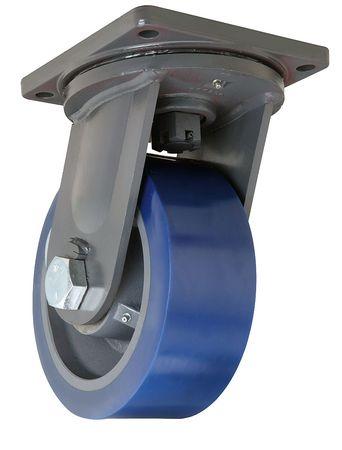 Hamilton Plate Caster Swivel Poly 10 in. 5000 lb. Blue