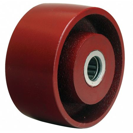 Value Brand Caster Whel Cast Iron 4 in. 1000 lb. Red