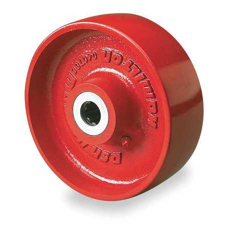 Value Brand Caster Wheel Cast Irn 6 in. 1400 lb. Red