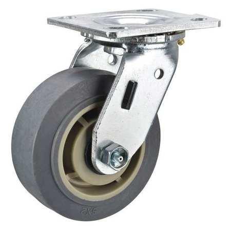 Value Brand Swivel Plate Cstr 5 in Dia 375 lb Roller