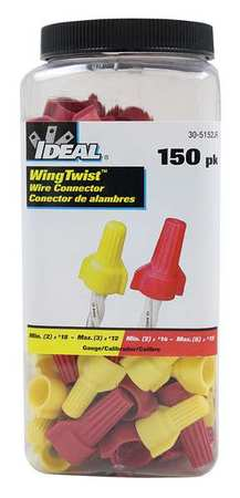 Twist On Conn Kit Yellow and Red 150pcs. by USA Buchanan Electrical Wire Connectors