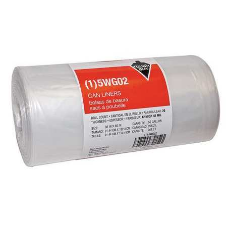 Coreless Roll Liner Trash Bags 40-60 Gallons