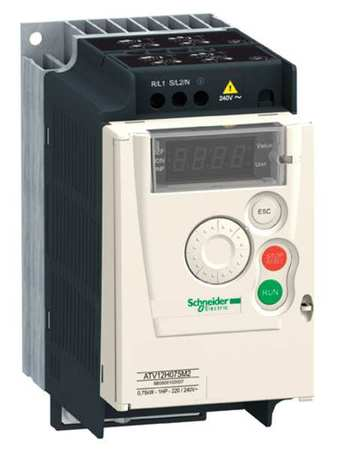 Variable Frequency Drive 1 HP 230VAC Model ATV12H075M2 by USA Schneider Variable Frequency Open Enclosure Drives