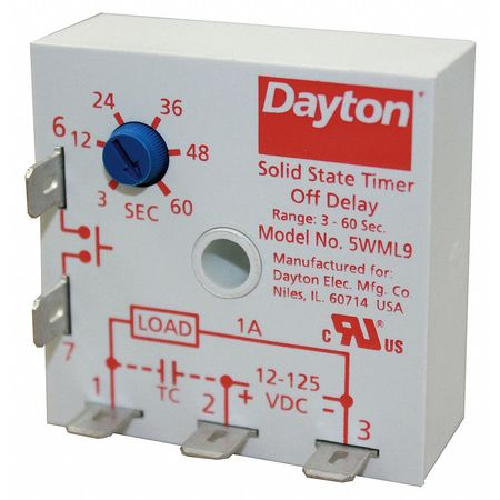Encapsulated Timer Relay 1A Solid State by USA Dayton Electrical Time Delay Relays