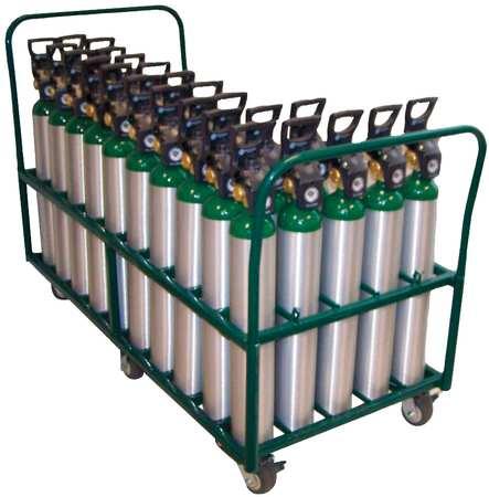 Saftcart Cylinder Trolley 38 In. H 2400 lb.