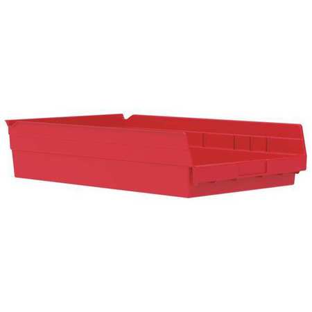 Plastic Shelf Bins Red