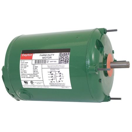 Farm Duty Mtr PSC TEAO 1/2 HP 1725 RPM by USA Dayton AC Farm Duty Motors