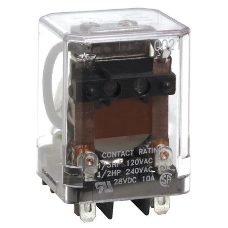 Plug In Relay 8 Pins Square 24VAC Model 5X837 by USA Dayton Electrical Specialty Relays