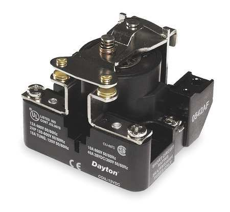 Open Power Relay 4 Pin 24VAC SPST NO by USA Dayton Electrical Specialty Relays