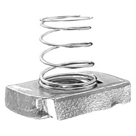 Channel Short Spring Nut 1/4 In PK25 by USA Value Brand Electrical Strut Channel Accessories