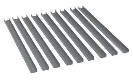 Value Brand Bin Rail Accessory Kit Gray Steel Type 30900