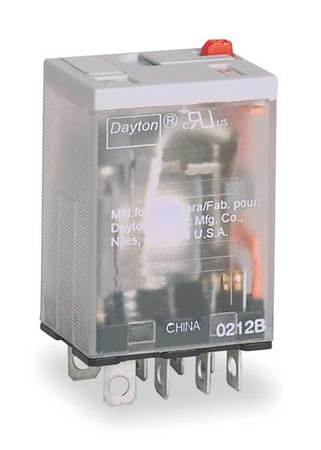 Relay 8 Pins Dpdt 15a Model 5YR18 by USA Dayton Electrical Specialty Relays