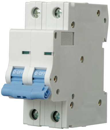 2P IEC Supplementary Protector 25A 440VDC by USA Dayton Circuit Breakers