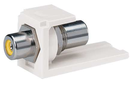 RCA Coupler Mini Com White w/Ylw Insert by USA Panduit Audio Video Splitters Connectors & Adapters