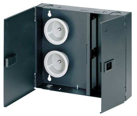 Fiber Enclosure 10.18in H 2.32in D Black by USA Pannet Voice & Data Communication Cabinets