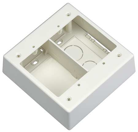 Divided Junction Box Off White by USA Panduit Electrical Raceway Fitting Accessories