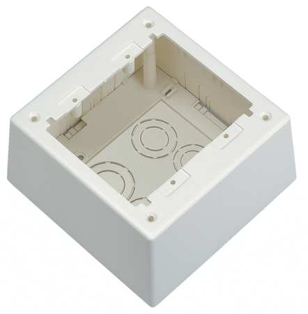 Deep Junction Box Off White Boxes by USA Panduit Electrical Raceway Fitting Accessories