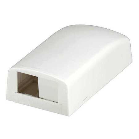 Surface Mount Box Mini Com 2Port White by USA Panduit Voice & Data Outlets Boxes Faceplates