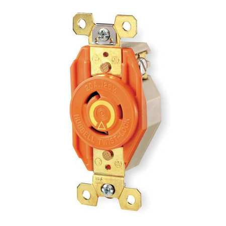 30A Isolated Ground Locking Receptacle 2P 3W 240VAC by USA Hubbell Kellems Electrical Locking Receptacles