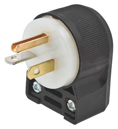3 Wire Industrial Angle Straight Blade Plug 125VAC 20A by USA Hubbell Kellems Electrical Straight Blade Plugs