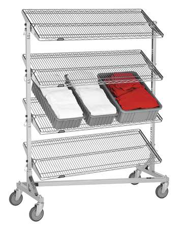 Value Brand Nesting Wire Cart 24 In. W 60 In. L