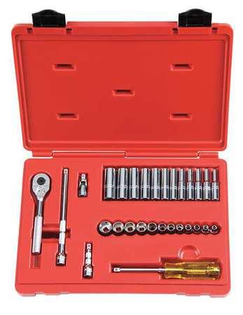 "Proto Socket Wrench Set Metric 1/4"" Dr 29 pc"