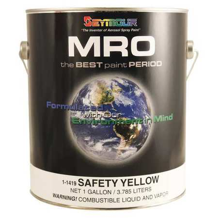 Paint,safety Yellow,1 Gal.,pk4