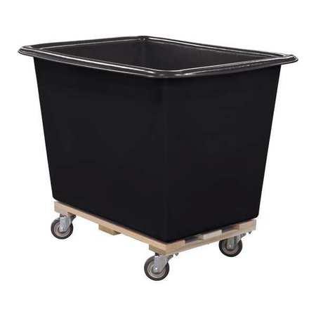 Royal Basket Poly Truck 14 Bu Black Wood Base