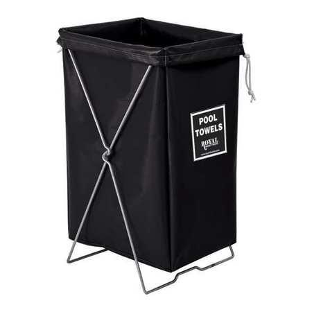 Royal Basket Hamper Kit Black Vinyl Pool Towels
