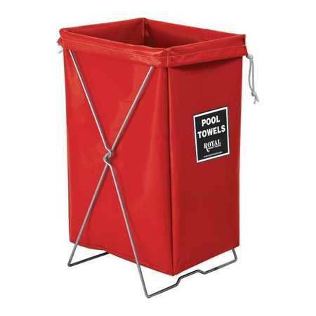 Royal Basket Hamper Kit Red Vinyl Pool Towels