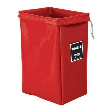 Royal Basket Hamper Bag Red Vinyl Towels