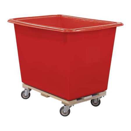 Royal Basket Poly Truck 14 Bu Red Wood Base