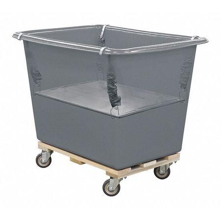 Royal Basket Poly Spring Lift 14 Bu Gray