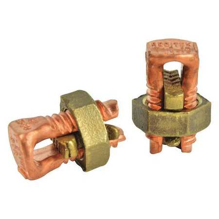 Split Bolt Connectors Copper PK2 by USA Gardner Bender Electrical Wire Split Bolt Connectors