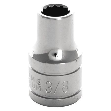 "Performance Tool Standard Socket 1/2"" D 12pt. 3/8"